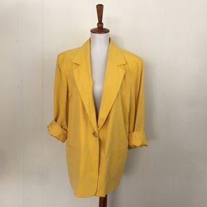 Vintage Saks 5th Ave Silk Boyfriend Blazer